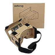 Kit de bricolage carton de Google, Zetong Réalité virtuelle 3D Cardboard Glasses Smartphones With thick Rubber Band pour les Téléphones Intelligents de 3,5 à 5,5 pouces (3,5 à 5,5)