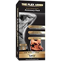 The Flex Belt The Flex Arms Paquete de Accesorios para tonificación Muscular, para bíceps y tríceps, Requiere el Controlador se Vende por Separado