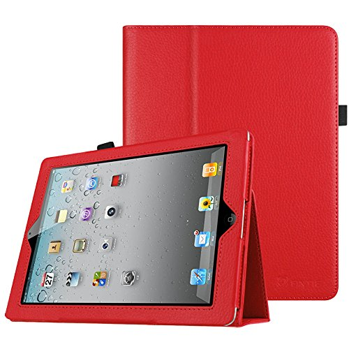 Fintie iPad 4/3/2 Case - Slim Fit Folio Stand Case Smart Protective Cover Auto Sleep/Wake Feature for Apple iPad 2, iPad 3 & iPad 4th Generation with Retina Display, Red