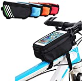 Yinoinge Bike Bicycle Frame Front Tube Handlebar Bicycle Holder Outdoor Sport Polyester Case With Touch Screen Case For Below 6.0Inch Cell Phone iPhone 7/8 Plus/iPhone X/Samsung Galaxy s9/s9 Plus
