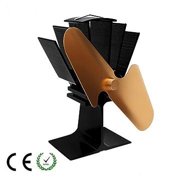 Estufa de leña Abanico-2 aspas Estufa activada por calor Ventilador de la estufa de