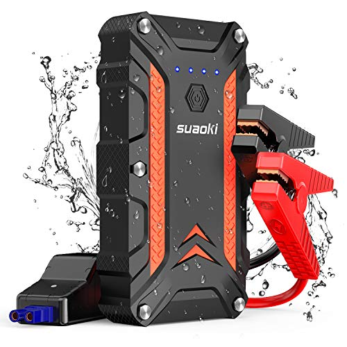 Peak Power (SUAOKI 1000A Peak Portable Car Jump Starter (up to 7.0L Gas or 5.0L Diesel Engine) 12V Auto Battery Booster with 18W Power Delivery & Dual Quick Charge 3.0 Ports Power Pack and IP68 Waterproof (CJS02))
