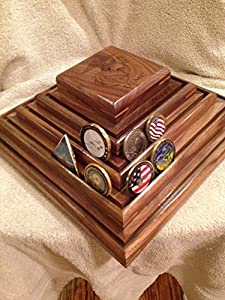 US Marine Corps Challenge Coin Display Rack Holder Stand w/Lazy Susan