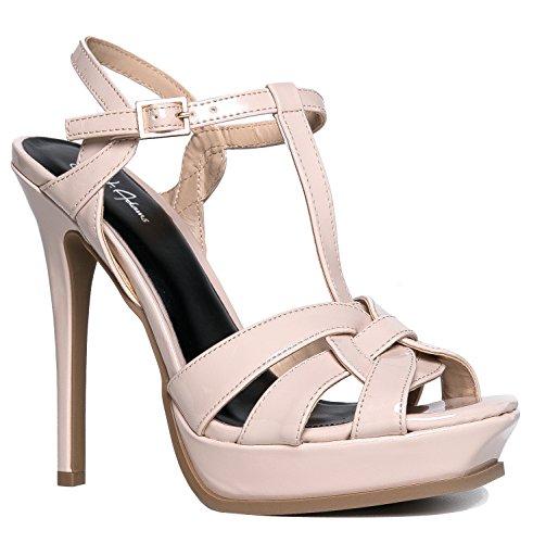 Vdara Platform Stiletto Heel, Nude Patent, 8.5 B(M) US