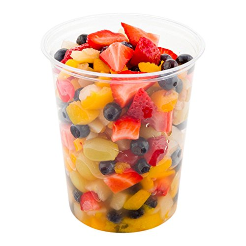 32-OZ PLA Plastic To-Go Container – Clear Round Deli Bowl: Perfect for Catering Events & Restaurant Takeout – Compostable and Biodegradable – 500-CT – Basic Nature Collection – Restaurantware by Restaurantware