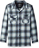 Pendleton Men's Long Sleeve Fitted Board Shirt, Blue/Grey Mix Ombre, LG