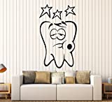 Tooth Toothache Funny Kids Children Dental Dentist Wall Art Decor Vinyl Sticker z130