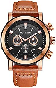 Ochstin Watch for Men, Chronograph, Leather, GQ064A-B
