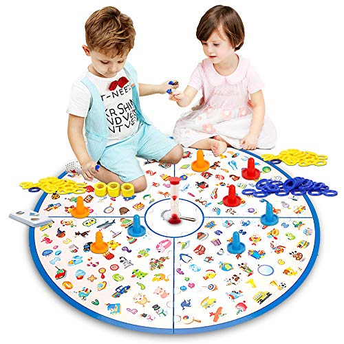 LUKAT Board Game, Matching Game Large Board Fast Memory Game Kids Toys for Girls and Boys (Physicals, Alphabet, Letter…