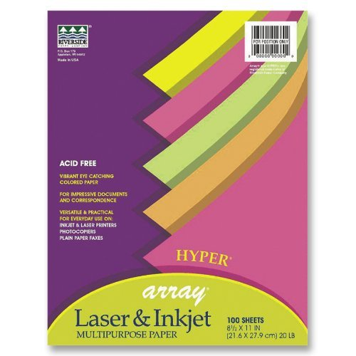 Pacon Bond Paper, 8 1/2 inches by 11 inches, Hyper Assortment, 500 Sheets (101135) by Array ()