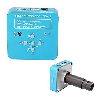 Cámara de microscopio HDMI, 34MP USB2.0 Microscopio digital Cámara ...