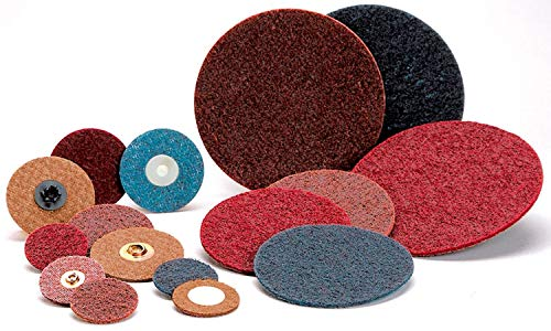 3 in Disc Dia Aluminum Oxide Non-Woven Finishing Disc 56 Units 18000 RPM