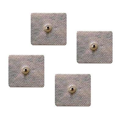 4de électrodes adhésives carrées 5x 5cm, boutons-pression de 3,6mm - Compatibles avec Compex