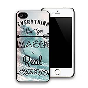 Everything You Can Image Is Real Pattern Hard Plastic Back Case Cover for Iphone 5 Iphone 5s (Everything You Can Image Is Real)
