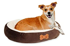 Aspen Pet Oval Cuddler Pet Bed for Small Breeds