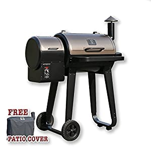 Z GRILLS ZPG-450A Wood Pellet Barbecue Grill And Smoker with Digital Temperature Controls, Perfect Family Size Backyard BBQ Grill from epic Z GRILLS