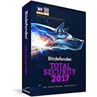 Bitdefender Total Security 2017 Anti Malware Software (Up to 5 Devices for 1 Year) [Download]