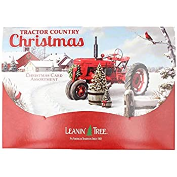 Leanin Tree Tractor Country Christmas 20 Card Assortment AST90297