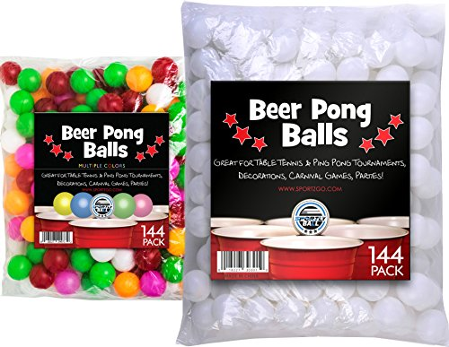 Sportly Beer Pong Balls ,38mm,144 pack -