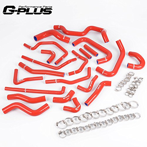 Silicone Ancillary Coolant Hose Kit Clamps For TOYOTA MR2 Turbo 2.0L 3SGTE Rev2 LHD 1991 Left Hand Drive Red