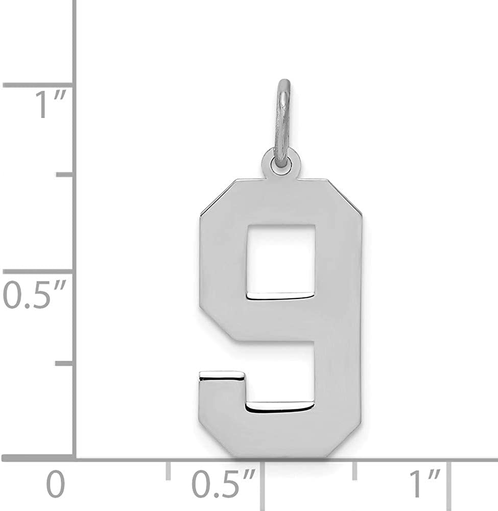 925 Sterling Silver Large Number 9 Pendant Charm Necklace Charms Fine Jewelry For Women Gifts For Her