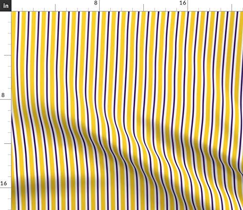 Spoonflower Louisiana Fabric - Louisiana State Univers Tigers LSU Stripe Purple Yellow Print on Fabric by The Yard - Chiffon for Sewing Fashion Apparel Dresses Home Decor