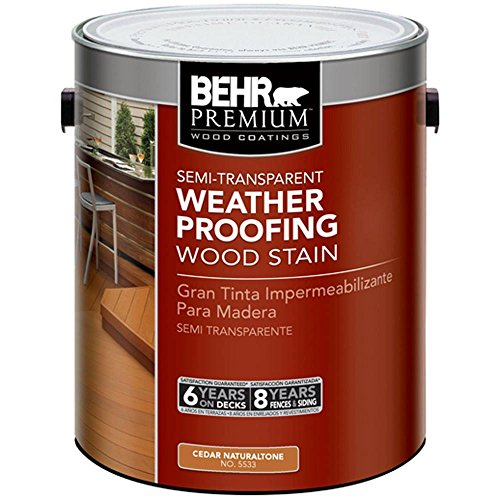 BEHR Premium 1 gal. #ST-533 Cedar Naturaltone Semi-Transparent Waterproofing Stain and - Deck Solid Semi