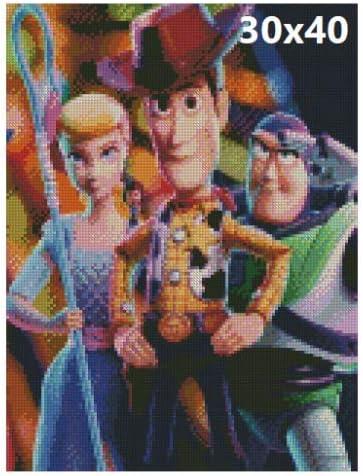 Dibujos Animados Película Disney Completo Taladro 5D Diamante 25x30cm bordado de kits de pintura