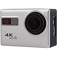 Professional Product Easy to Use F68 Portable 4K Ultra HD WiFi Waterproof Sport Camera, 2.0 inch Screen, Novatek 96660, 170 A+ Degrees Wide Angle Lens, Water Resistant Depth: 30m ( Color : Silver )