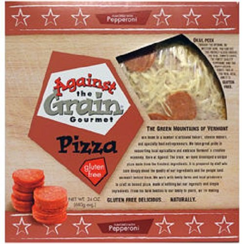 Against The Grain Gluten Free Pepperoni Flatbread Pizza, 24 Ounce (Pack of 6) by Against The Grain (Image #1)