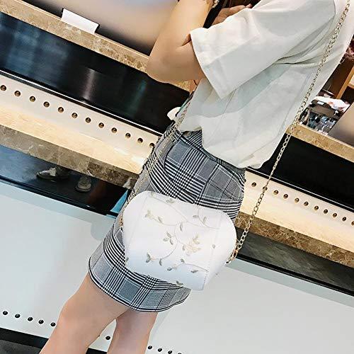 mujer de poliuretano para al Blanco Bolso hombro Widewing vHgAYY