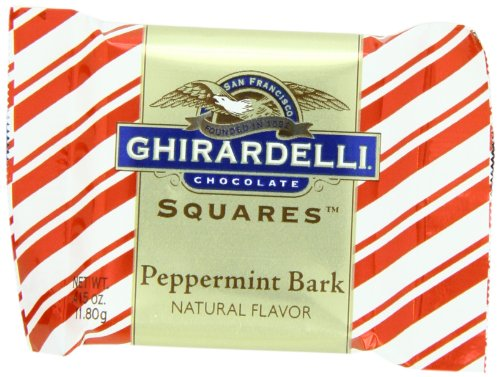 (Ghirardelli Chocolate Squares, Peppermint Bark, 0.415-Ounce Squares (Pack of 120) )