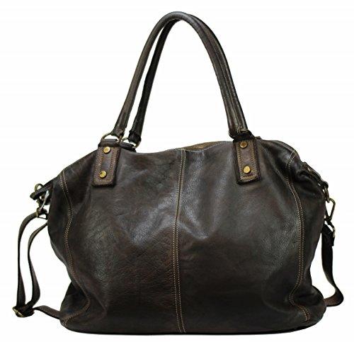BZNA Bag Viola Moro Italy Designer dam handväska läderväska axelväska väska läder Shopper ny