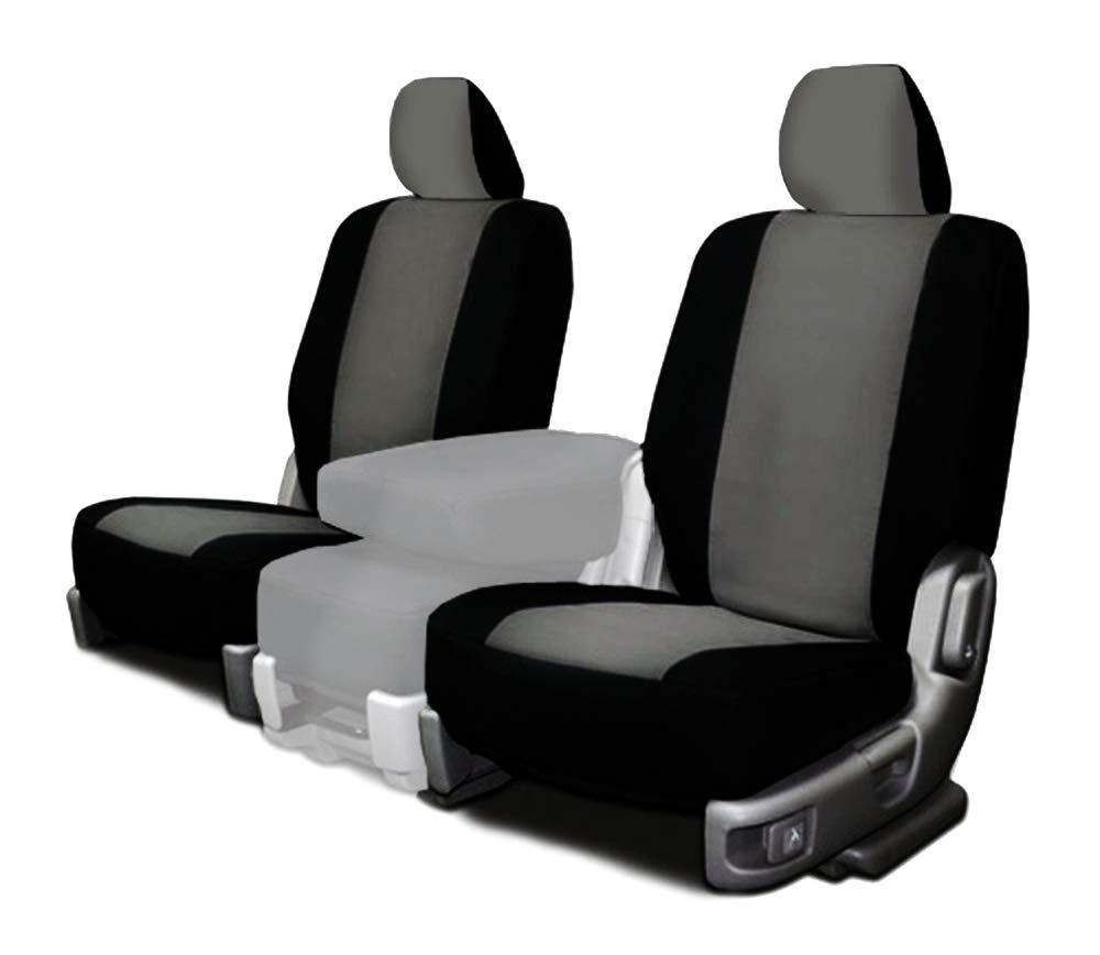 CarsCover Custom Fit 2017-2018 Dodge Ram 1500 2500 3500 Pickup Truck Neoprene Car Front Seat Covers Gray & Black Sides Driver & Passenger Cover by CarsCover (Image #1)