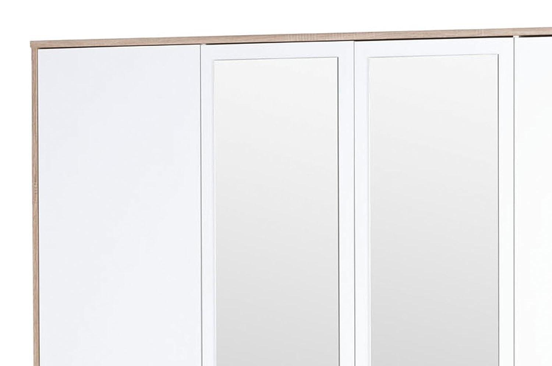 Sanremo Oak Effect Movian Minho 2-Drawer Bed with 2 Nightstands ...
