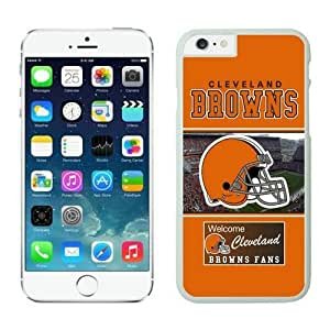 NFL iPhone 6 Plus 5.5 Inches Case Cleveland Browns iPhone Cases White iPhone 6 Plus Cell Phone Case ONXTWKHB1106