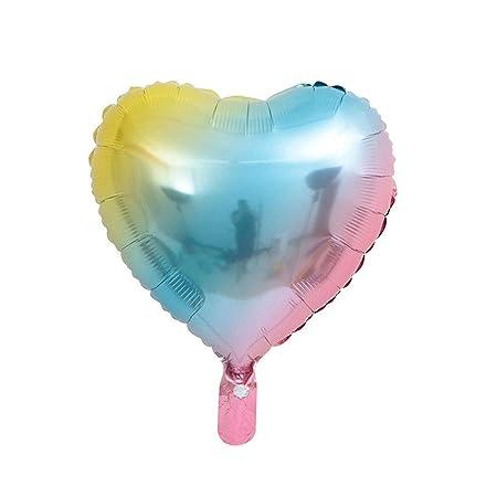 CozofLuv 25 Globos de Helio con Forma de corazón para ...