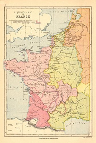 Map Of France In English.Amazon Com France Historical English Territories Under Henry Ii