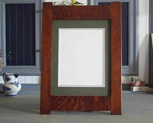 """Arts and Crafts 11"""" X 14"""" White Oak Portrait Style Hanging Picture Frame Handcrafted/Homemade Mission Style from Augie's Woodworking"""