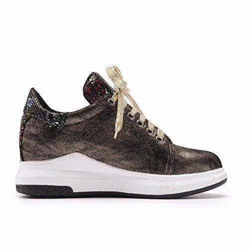 Loisir Misssasa Or Lacets Chaussures Escarpins Femmes Fermeture wIfCqU4n