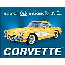 58 Corvette America's Car Metal Sign , 16x13