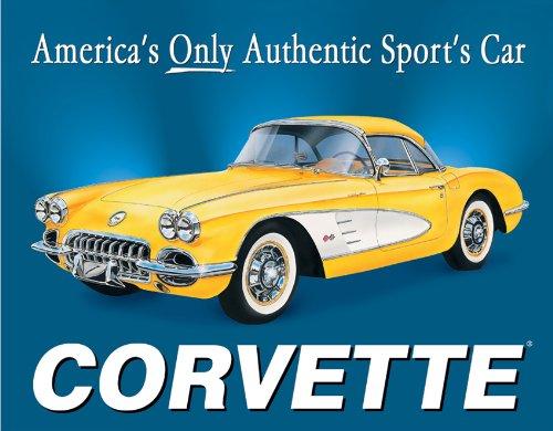 Poster Discount 58 Corvette America's Car Metal Sign, 16x13