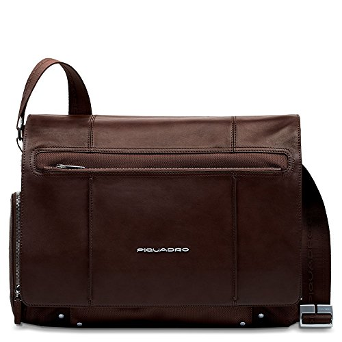 Piquadro Computer Messenger with iPad Compartment, Dark Brown, One Size by Piquadro