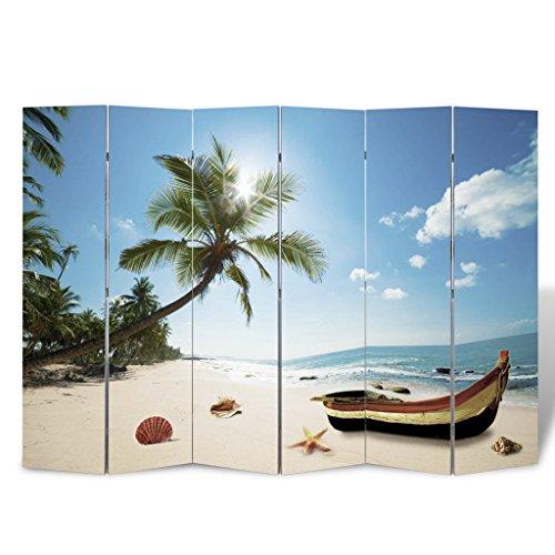 "Festnight Room Divider Beach Print Seashell By The Seashore 94.5"" x 70.9"""