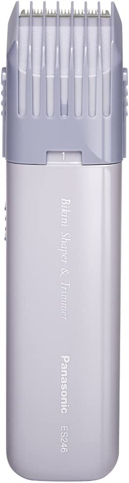 Panasonic ES246AC - Perfilador para la zona de bikini de mujeres con diseño compacto y portátil, y configuración de recorte ajustable, funciona con pilas