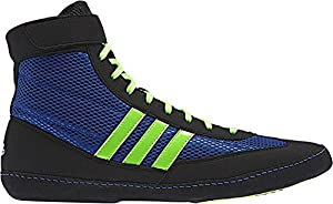 Adidas Combat Speed 4 Wrestling Shoes - Bahia Blue/Lime Green/Black - 7.5