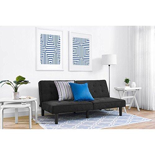Mainstays Baja Microfiber Futon Sofa Sleeper Bed Khaki
