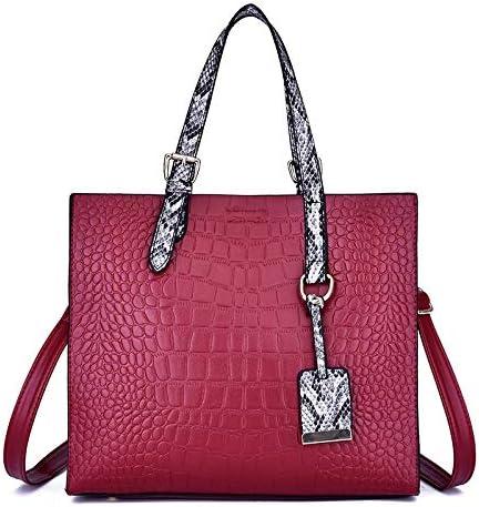 SHL HYF Casual Struttura del Coccodrillo Spalla dell'unità di Elaborazione Borsa di Pelle Donna Borsa Messenger Bag (Colore : Black) Red