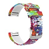 For Fitbit Charge 2 Band,Esharing Silicone Luxury Printed Sport Strap Replacement Wristband Watchband For Fitbit Charge 2 (Multicolor B)