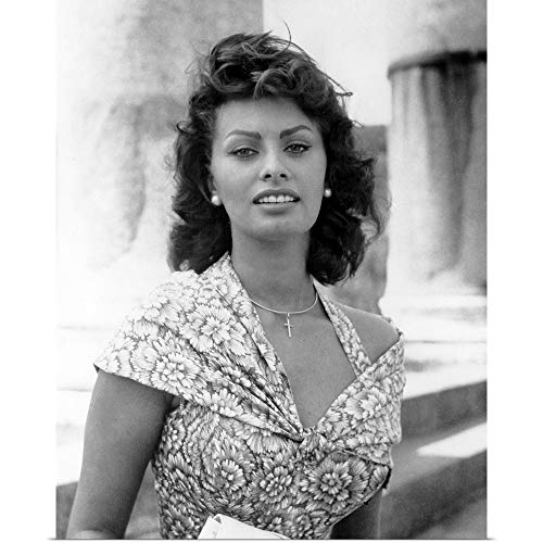 GREATBIGCANVAS Poster Print Entitled Sophia Loren in Boy on a Dolphin - Vintage Publicity Photo by 16